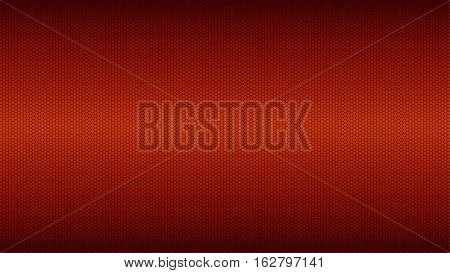Red small metal mesh TEXTURE/ background with darkened edges
