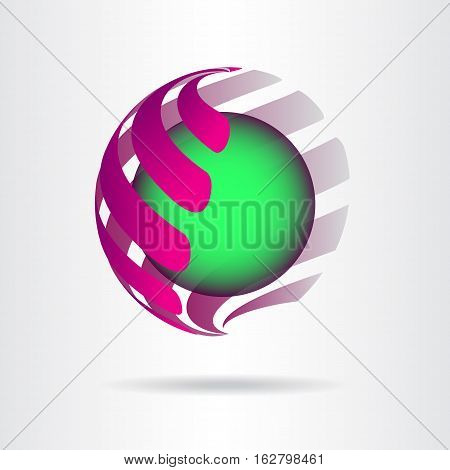 Abstract vector logo or icon design template.