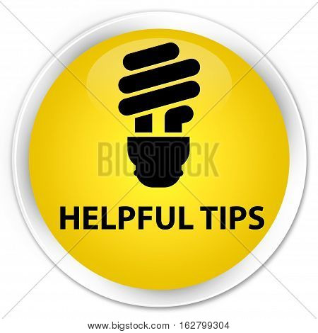 Helpful Tips (bulb Icon) Premium Yellow Round Button