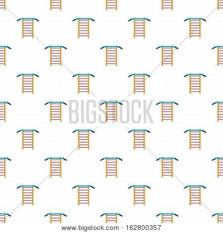 Swedish wall pattern. Cartoon illustration of swedish wall vector pattern for web