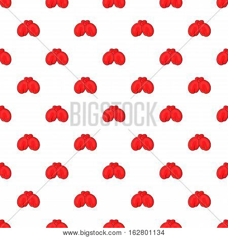 Red boxing gloves pattern. Cartoon illustration of red boxing gloves vector pattern for web