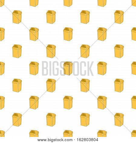 Yellow trash pattern. Cartoon illustration of yellow trash vector pattern for web