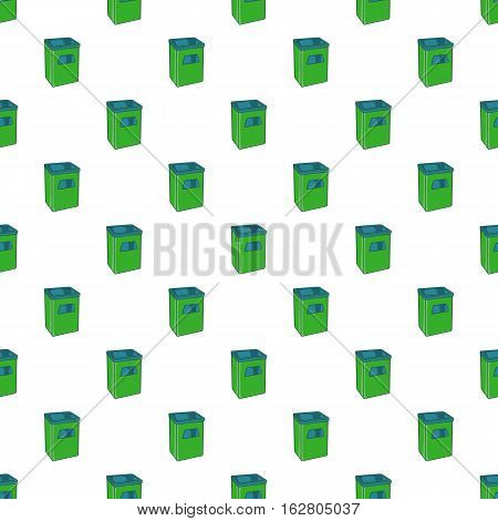 Street dustbin pattern. Cartoon illustration of street dustbin vector pattern for web