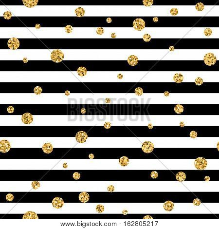 Gold Polka Dot Confetti Seamless Pattern