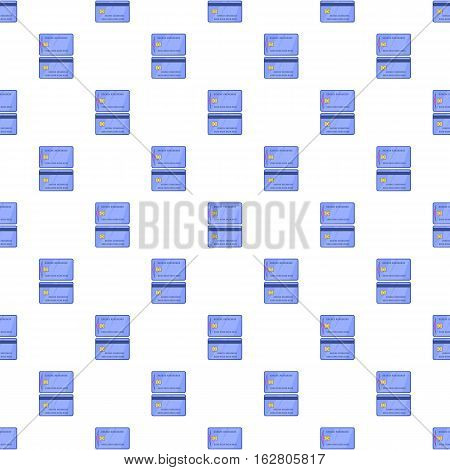 Credit card pattern. Cartoon illustration of credit card vector pattern for web