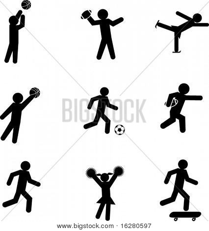 sport athletes symbols
