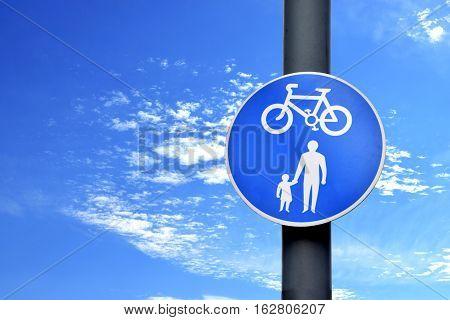 Road sign on the beautiful sky in Birmingham, United Kingdom