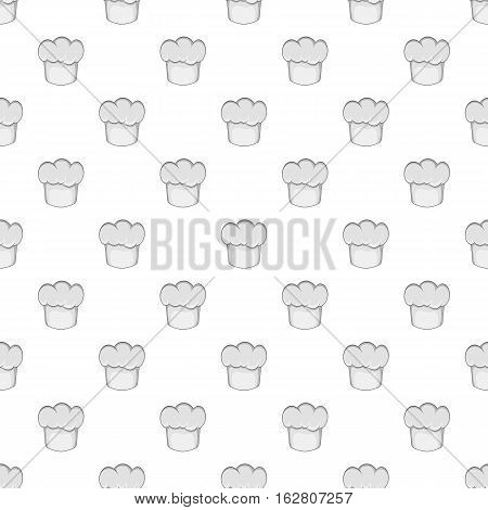 Hat chef pattern. Cartoon illustration of hat chef vector pattern for web