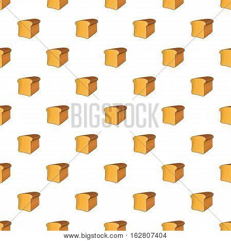 Bread pattern. Cartoon illustration of bread vector pattern for web