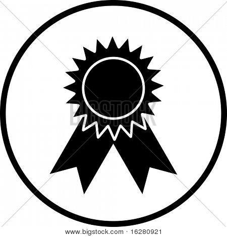 prize medal or ribbon symbol