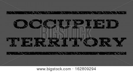 Occupied Territory watermark stamp. Text caption between horizontal parallel lines with grunge design style. Rubber seal stamp with scratched texture.