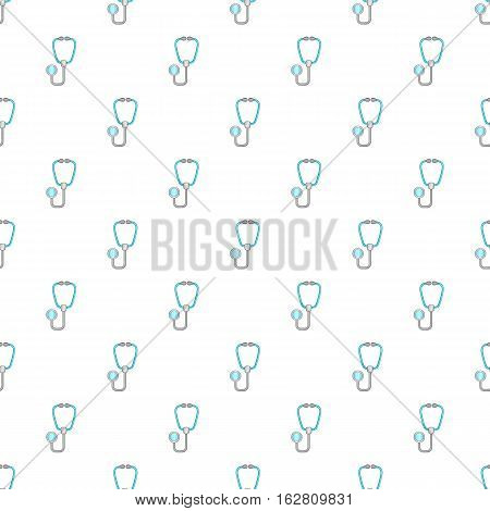 Stethoscope pattern. Cartoon illustration of stethoscope vector pattern for web