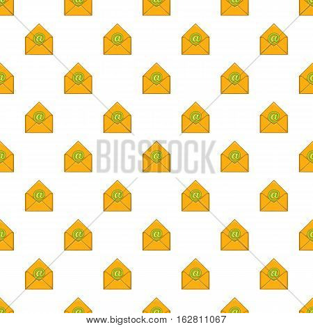 Cartoon illustration of email vector pattern for web