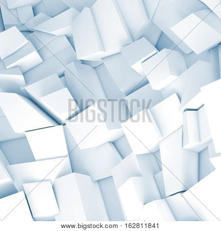 White 3D Chaotic Fragments, Render