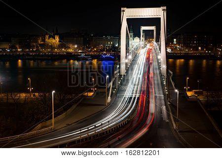 Elisabeth Bridge Erzsébet híd Budapest, Hungarian capital