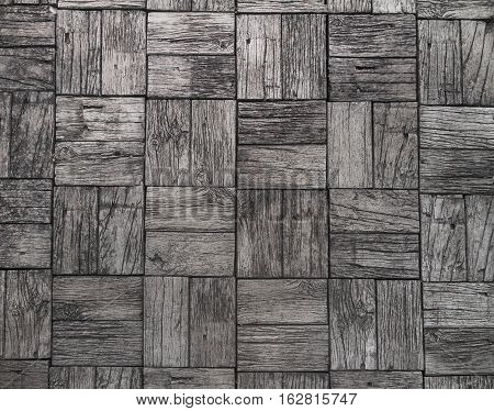 gray background and railroad ties texture wood floor