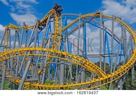 Six Flags  Adventure Amusement Park In Mexico City.