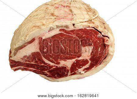 Piece of raw cut Prime Rib Roast
