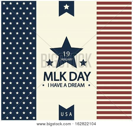 Martin Luther King day card or background. vector illustration