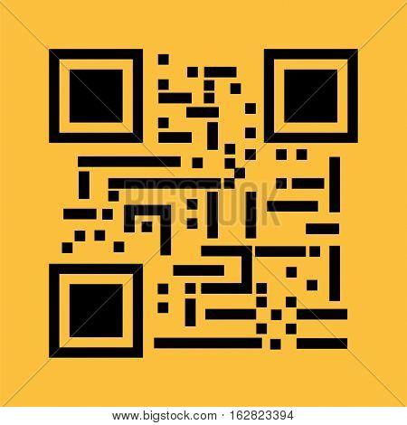 QR code illustration. QR code symbol .