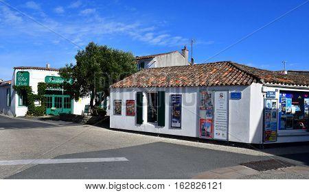 Saint Clement des Baleines France - september 26 2016 : the village in autumn