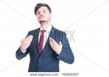 Business Man Or Manager Standing And Posing Arrogant