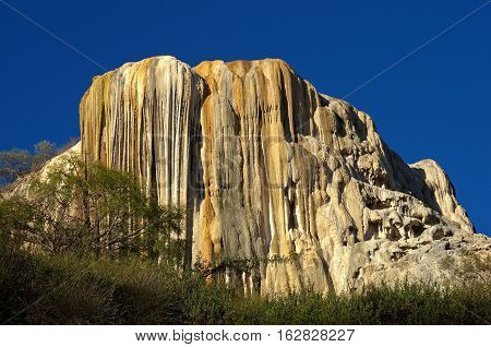 Petrified waterfalls Hierve El Agua in the Central Valleys of Oaxaca Mexico