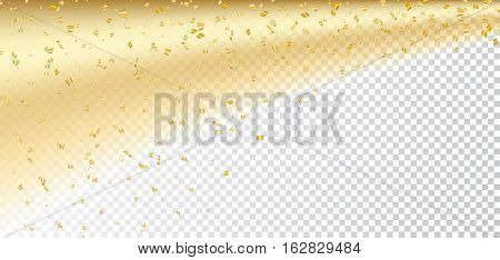 Gold White Confetti Transparent Background