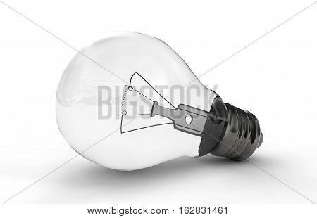 High-quality lightbulb with shadow 3d render work, metal, glass, isolated, electric