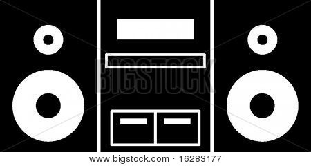 stereo music player symbol