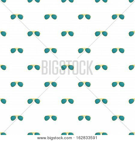 Cartoon illustration of glasses vector pattern for web