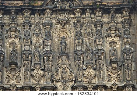 Elements Of Beautiful Cathedral On Zocalo, Mexico City