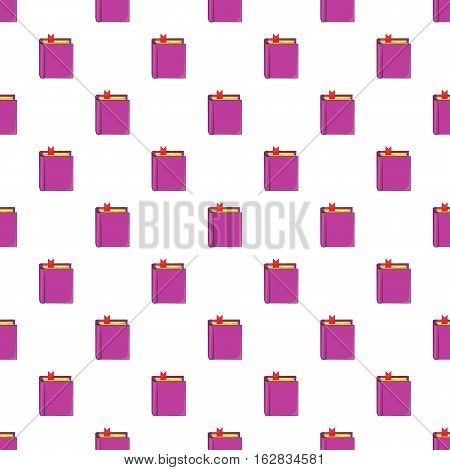 Cartoon illustration of thick book with bookmark vector pattern for web