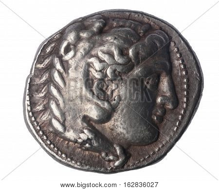 Tetradrachm of Alexander the Great late IV century BC Front: Head of Hercules with lion skin