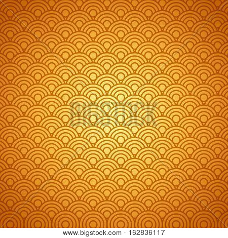 background with circular shapes in gold color. colorful design. vector illustration