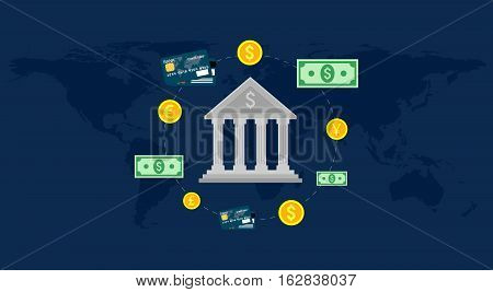 Bank, global foreign exchange market, banking trade, banking system.