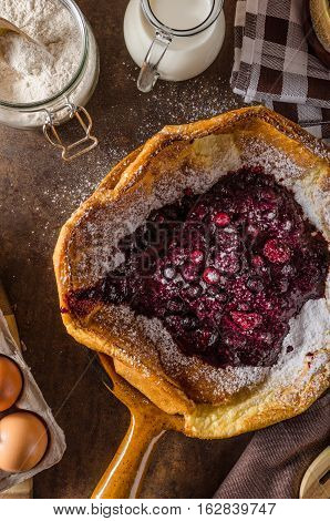 Dutch Baby Pancake With Berries