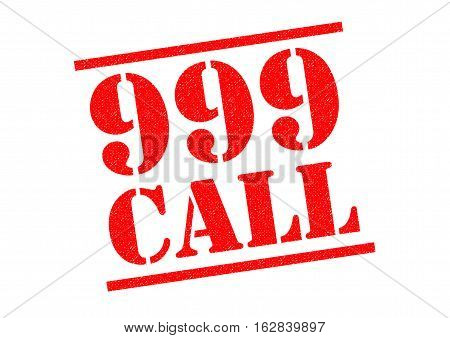 999 CALL red Rubber Stamp over a white background.