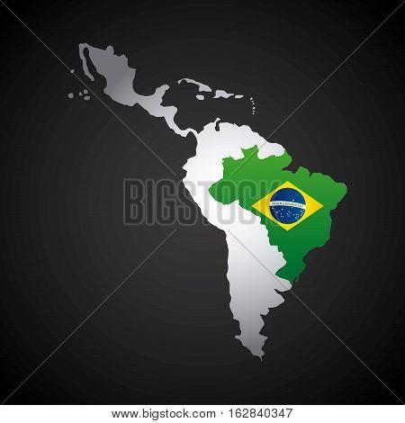 Latin America Map Vector Photo Free Trial Bigstock