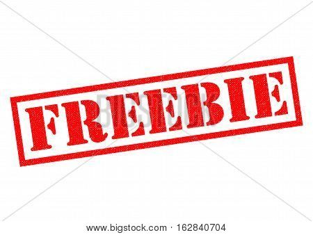 FREEBIE red Rubber Stamp over a white background.