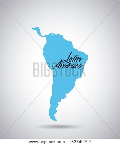 latin america map icon over white background. vector illustration