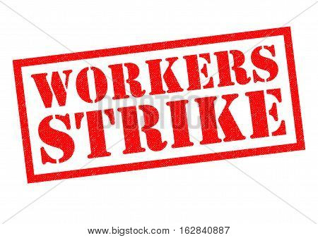 WORKERS STRIKE red Rubber Stamp over a white background.