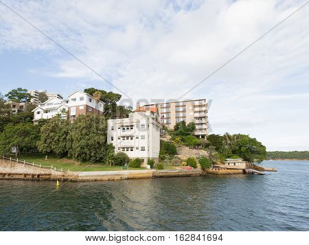 Sydney - 29 February 2016: Sydney Residential areas on the shores of Sydney Harbour and Curraghbeena point February 29 2016 Sydney Australia