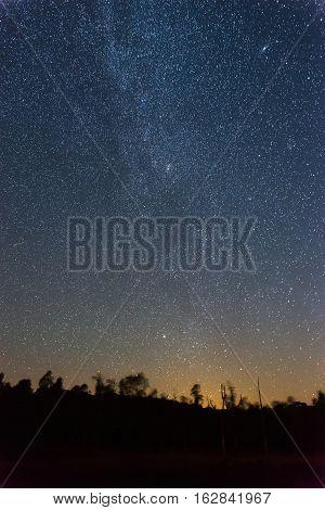 Perseid Meteor Shower in 2016 in Villar del Rey Badajoz Extremadura