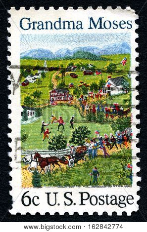 USA - CIRCA 1969: A postage stamp printed in USA shows a picture of the