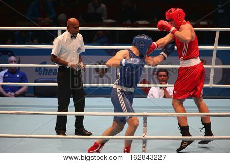 St. Petersburg Russia November 21 2016 Youth World Boxing Championships men