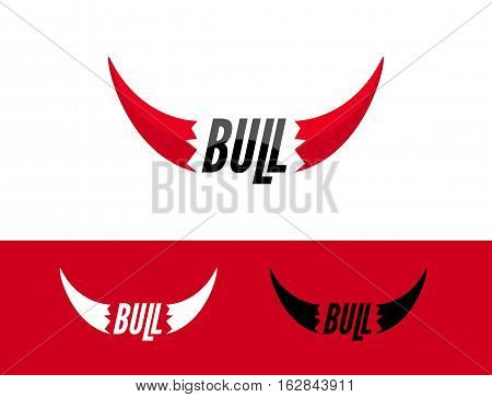 Bull logo design template. Flat bull logo sign. Taurus symbol element vector.