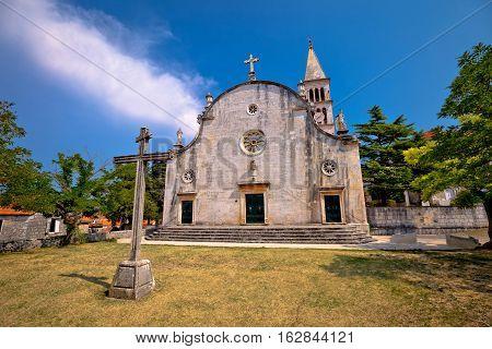 Church Of Nerezisca Village On Brac Island