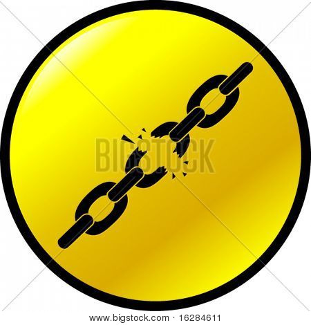 chains breaking button