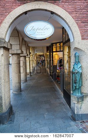 Shopping Arcade In Muenster, Westphalia, Germany